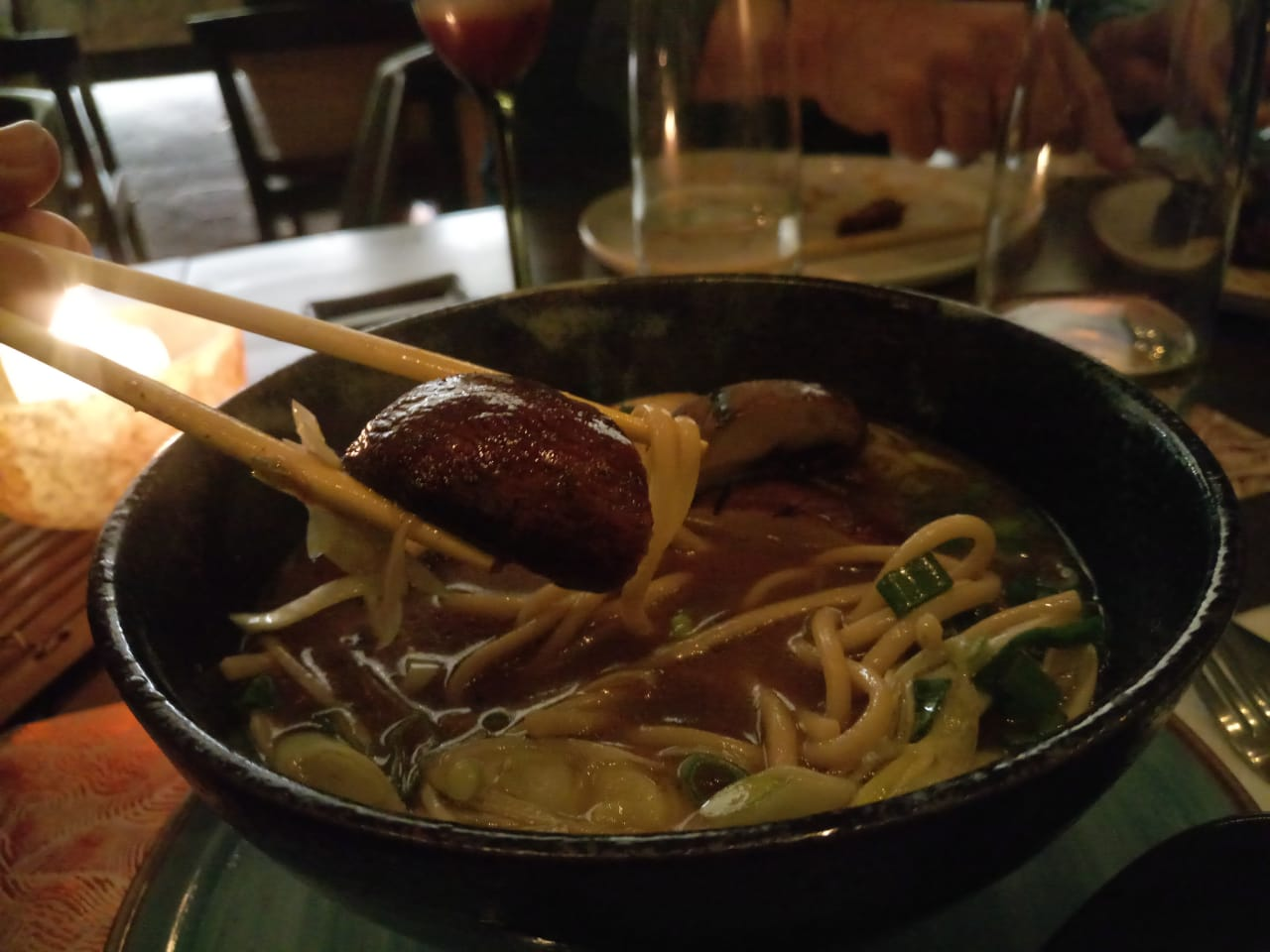 vegetarian ramen at Cuon Medellin