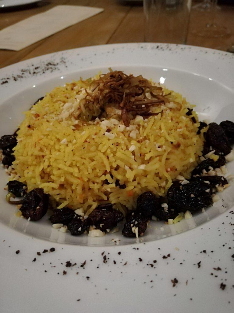 Safron rice at Creta